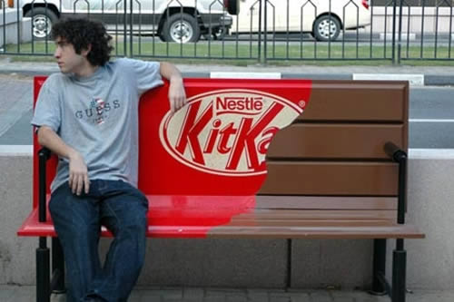 Nestle Benchvertising