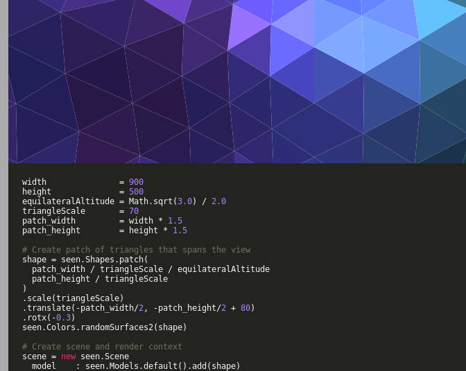Create 3D SVG or HTML5 Canvas using Seen js