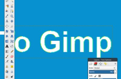 [Solved] Green Border around Gimp Text – Bug with Fonts