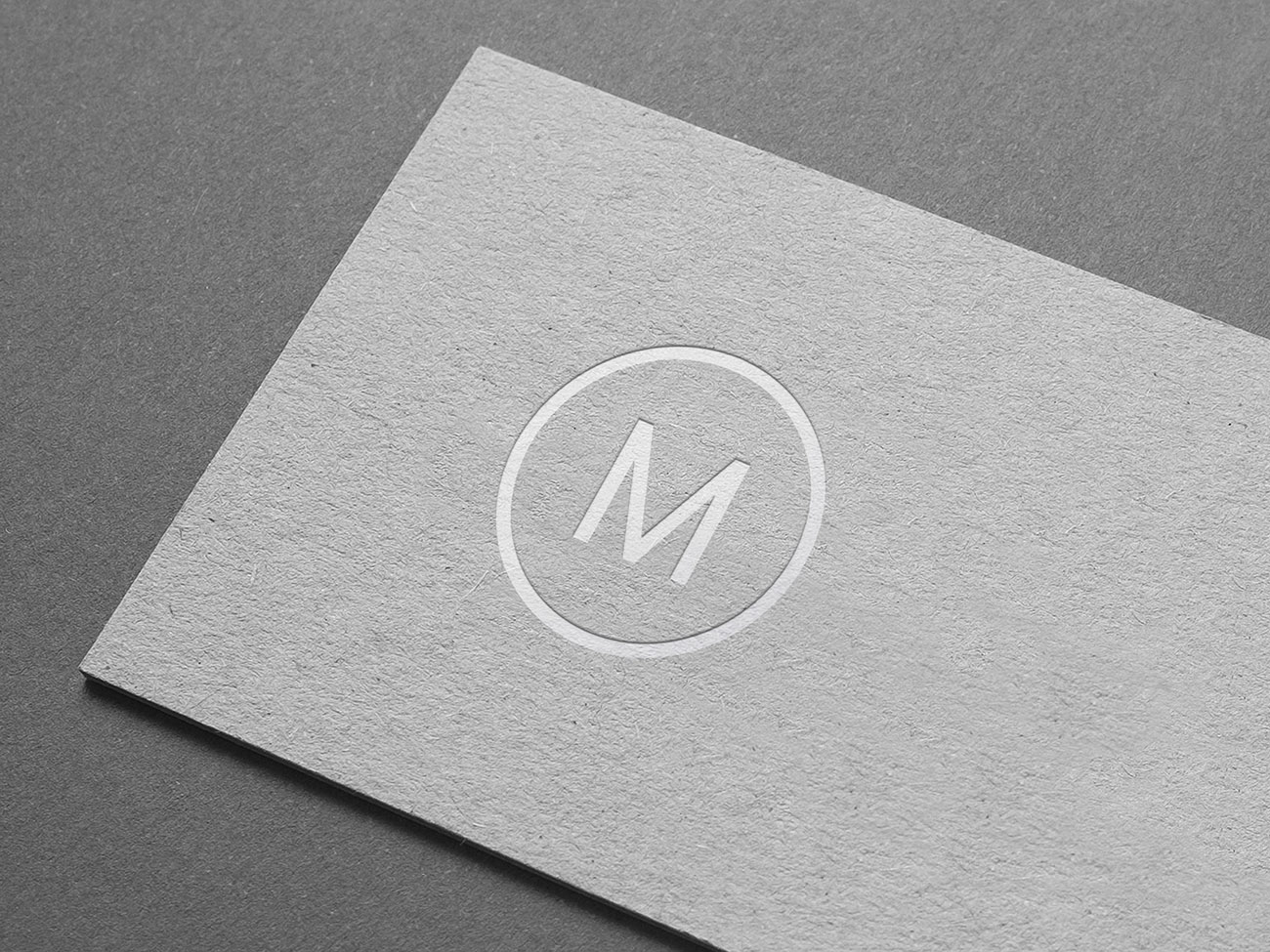 Realistic embossed paper logo mockup for free download. Embossed Paper Logo Mockup Smashmockup
