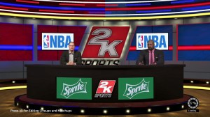 The game features a pre-game show hosted by Ernie Johnson and Shaq to further bore you while the game takes the time to load.