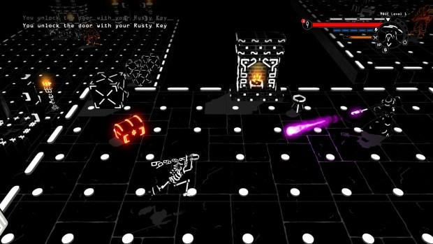 Mmmm... dots, O's, @ symbols, and glowing treasure chests and beams that'll kill you.