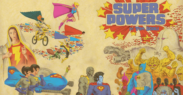 Check out Tom Scioli's 'Super Powers' artwork