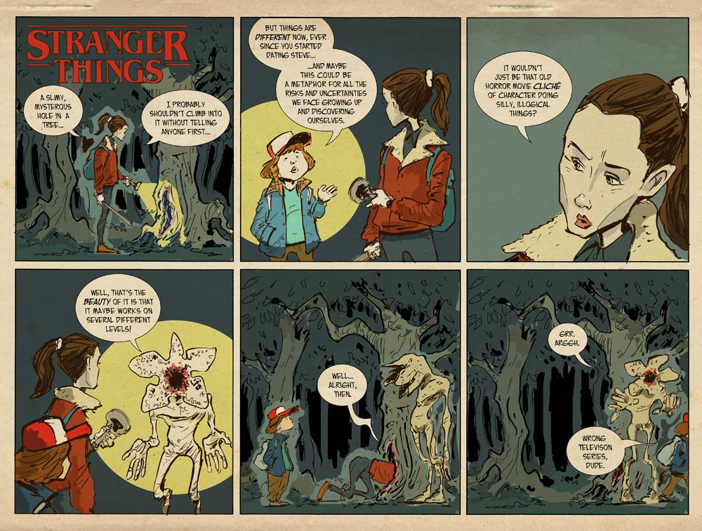 Check out Sonny Liew's 'Stranger Things' fan comics