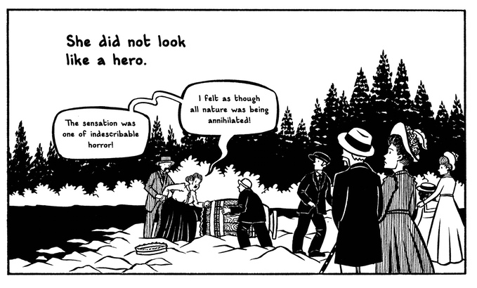 A panel from The Plunge