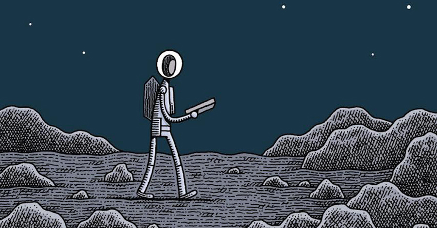 Watch the trailer for Tom Gauld's 'Mooncop'