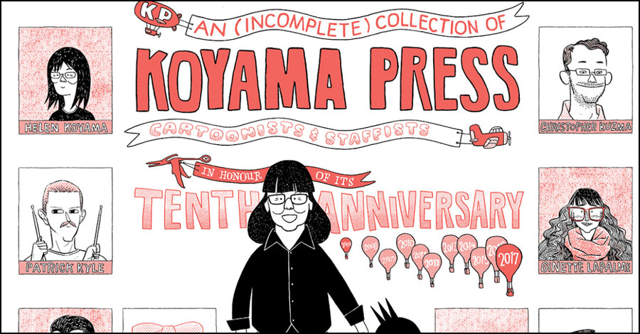 Dustin Harbin covers 10 years of Koyama Press history