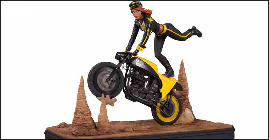 Batgirl and Supergirl hit the road as 'Gotham City Garage' statues