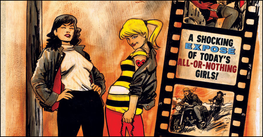 Betty and Veronica re-imagined as biker chicks in 'B&V Vixens'