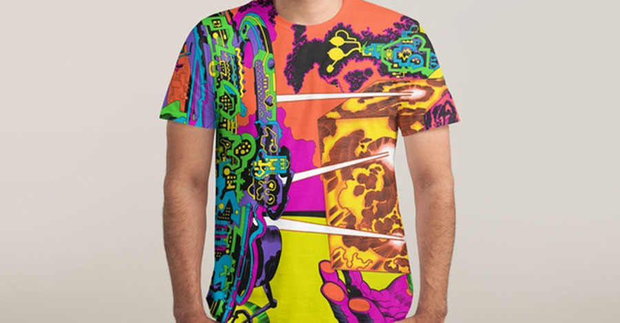 Wear Kirby's 'Lord of Light' artwork on your torso