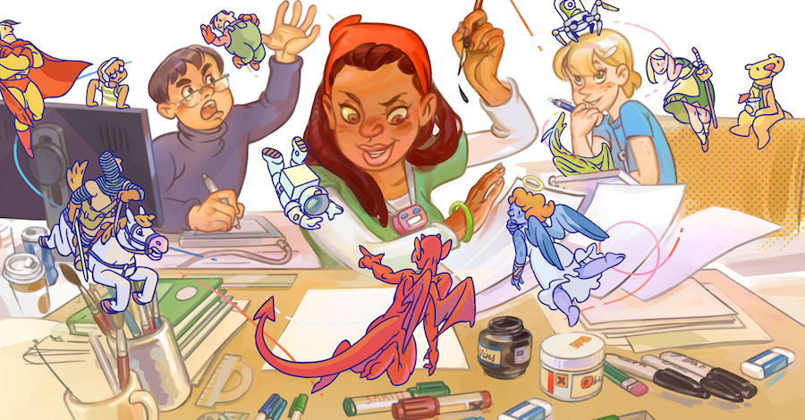 Smash Pages Q&A: Jason Thompson and Jumana Al Hashal on 'Cartooner'