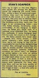 Stan Lee's Soapbox