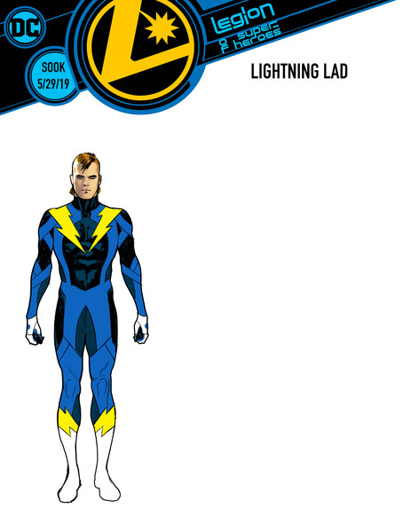 Legion of Super-Heroes Lightning Lad cover by Ryan Sook