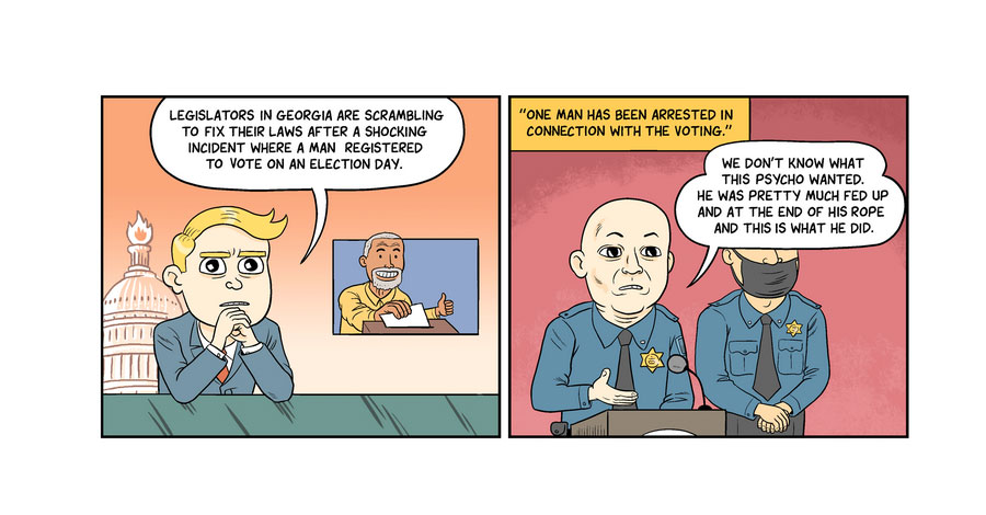 Matt Bors retires his weekly political comic strip; will still run 'The Nib'