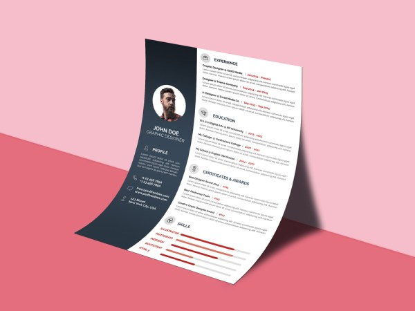 Free Professional Resume CV Resume Template