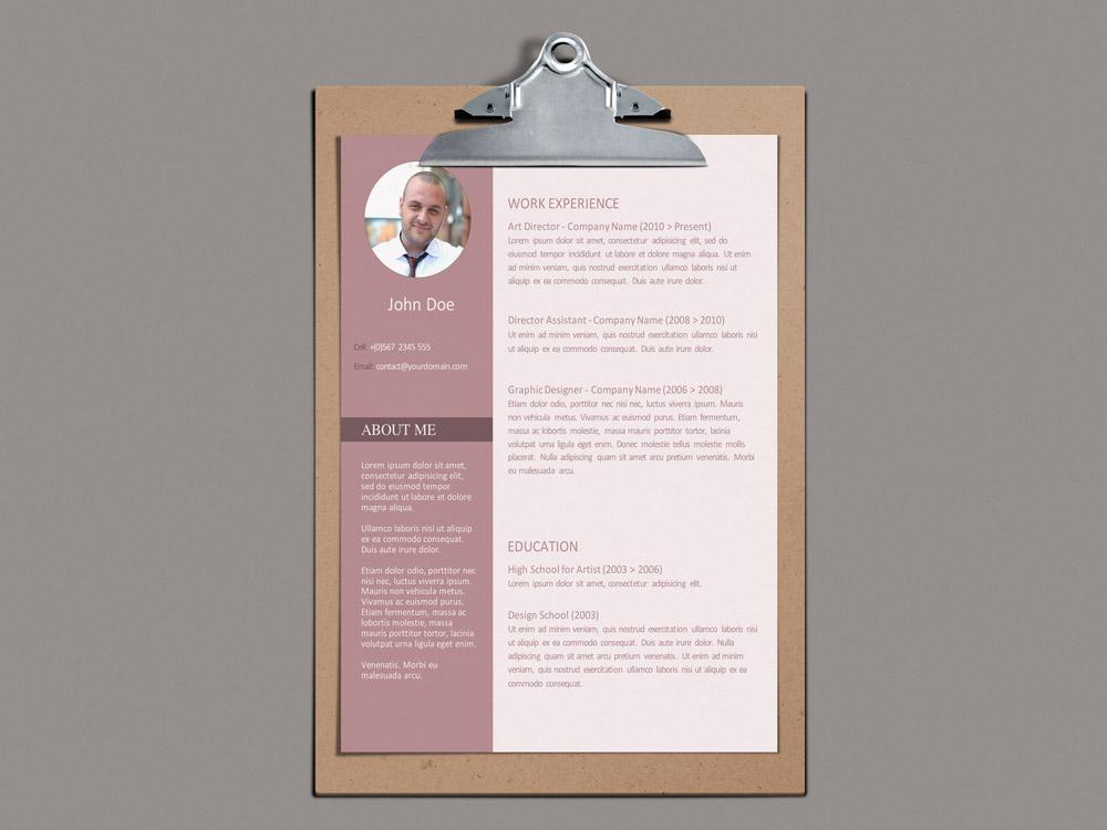 Modern Office Resume Free Modern Word Resume Template