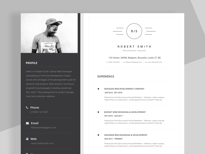 Hereis Free Unique Resume Cv Template That Come With Clean And Stylish Design Make Your Speak For Yourself In An Expert Using This