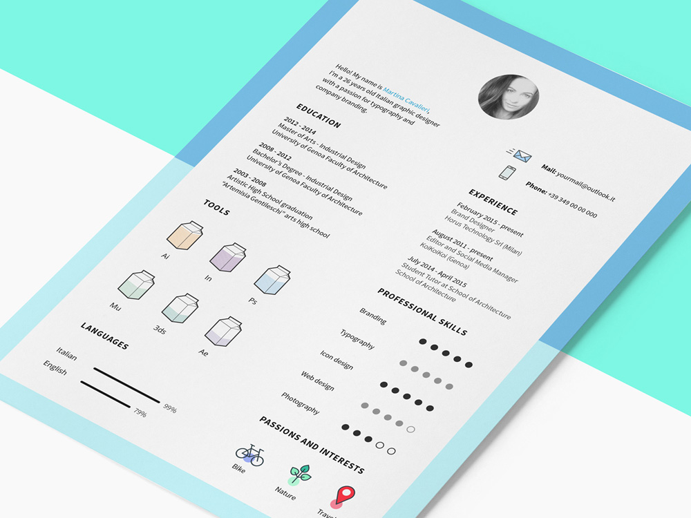 Free Clean Cv Template With Icon Set Come Modern Design This Very Easy To Use And Customize