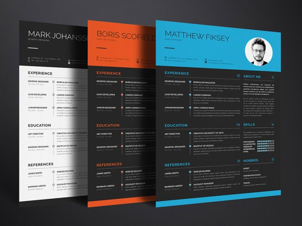 Free Creative Clean Resume Template for Any Job Opportunity