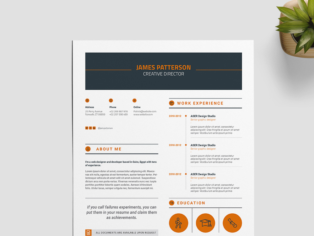 free creative indesign resume template for best impression