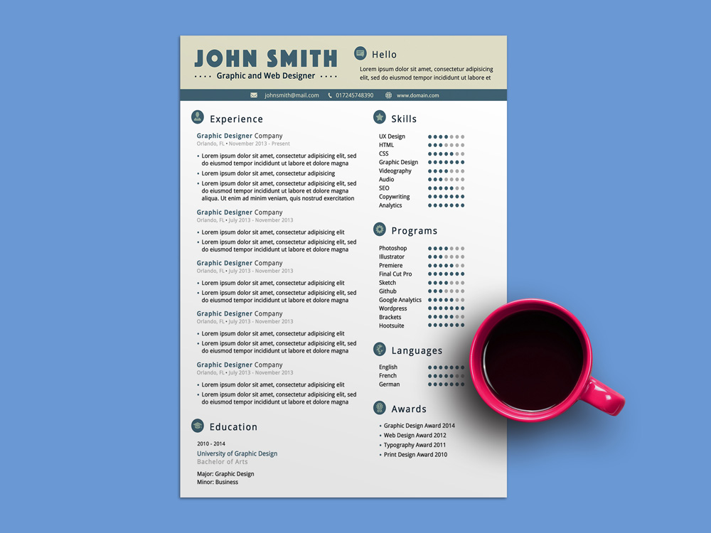 Free Unisex Resume Template fo Any Job Seeker