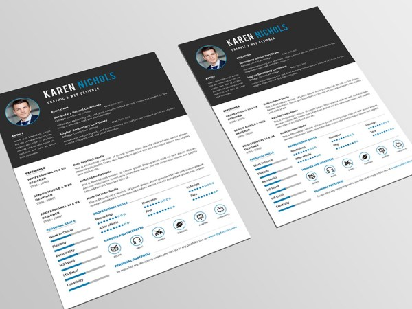 Free Formal Resume Template with Clean Design