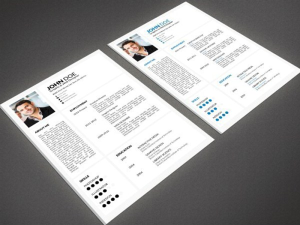 Free Minimal Resume Template With Portfolio and Cover Letter
