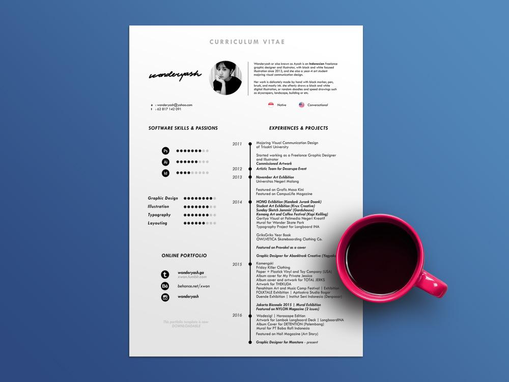 Best timeline cv resume template free for your dream job search. Free Timeline Cv Template With Minimalist Design
