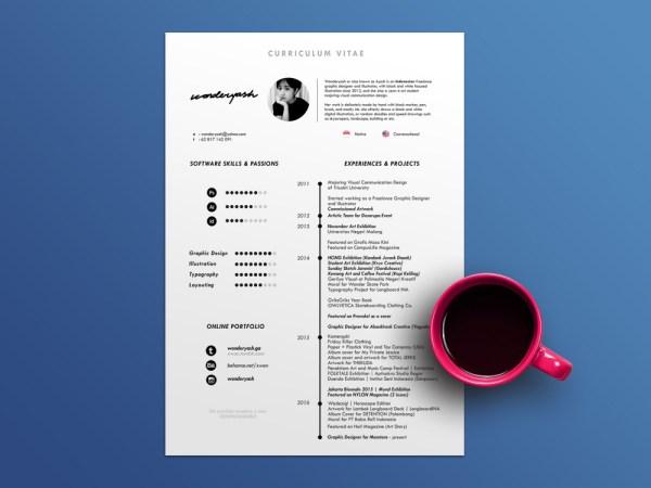 Free Timeline CV Template with Minimalist Design