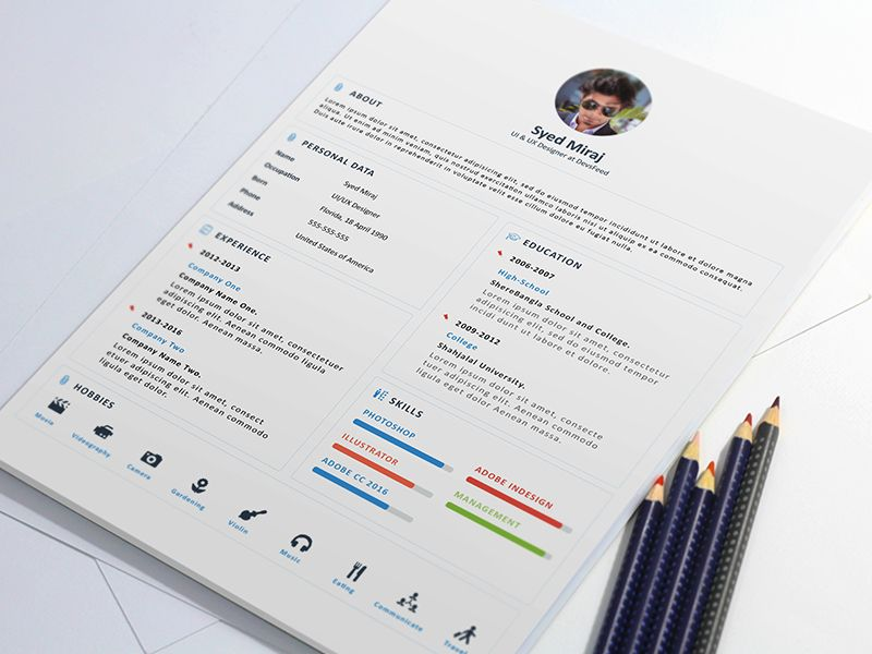 Free Print Ready Resume and Cover Letter Template