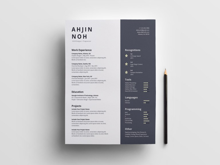 Free Minimal Indesign Resume Template With Super Clean And Minimalist Look You Can Easy To Add Pages Without Loss Of Quality Or Layout