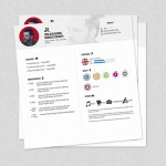 Square Resume Template
