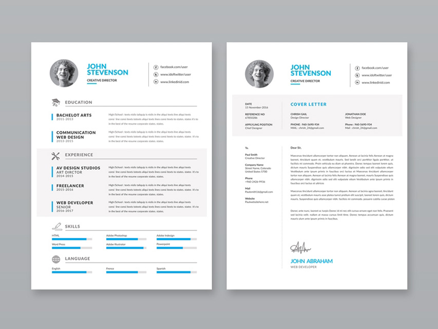 Minimalist-Vector-CV-Template Template Cover Letter Job Free Black Elegant Resume Cv Design Ukzwbd on