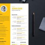 Yellow Work Resume