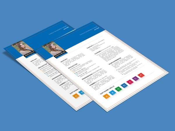 Agata Resume - Free Resume Template with Three Color Combination