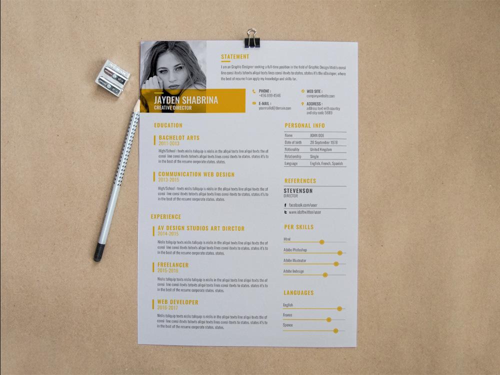 Free Creative Business Resume Template For Job Seeker