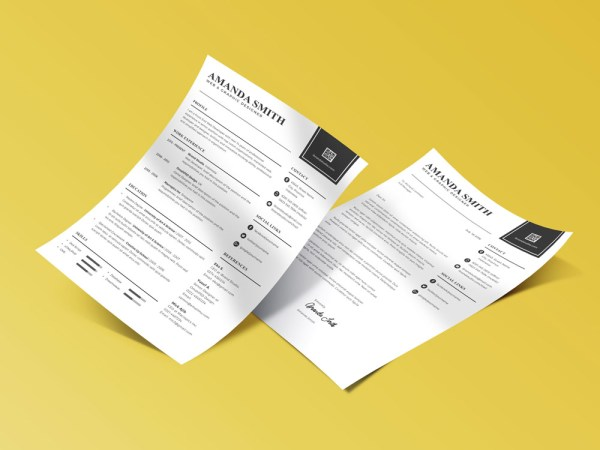Free Minimalist Resume Template with Matching Cover Letter