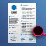 White CV Template