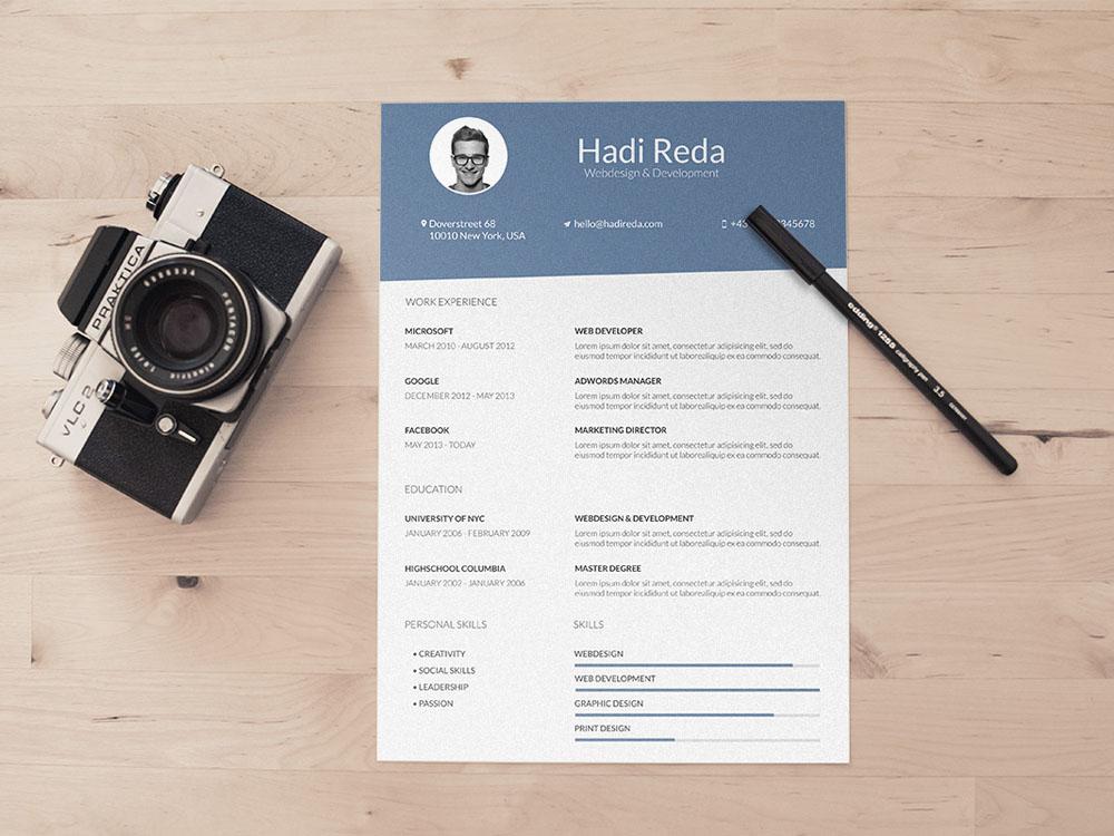 Free Minimalist and Elegant CV Template for Designer