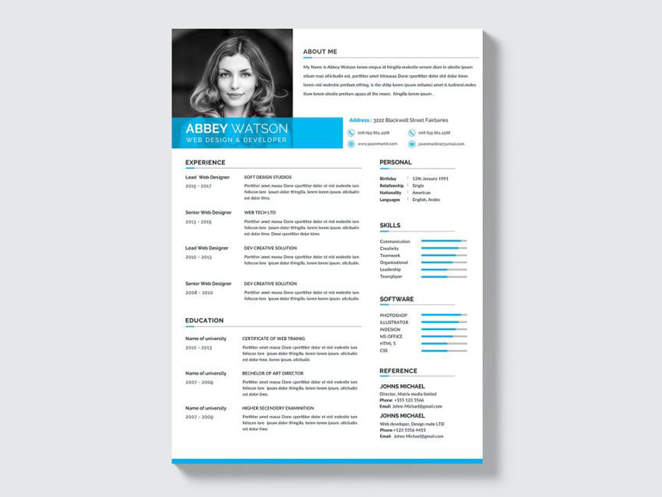 Free Formal Resume Template with Clean and Professional Look