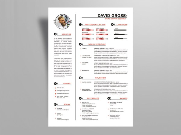 Free Hipster Style Resume Template For Job Seeker
