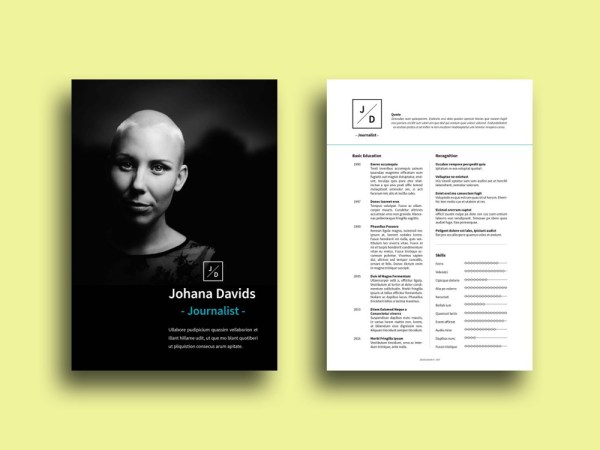 Free Journalist CV Template with Clean Design