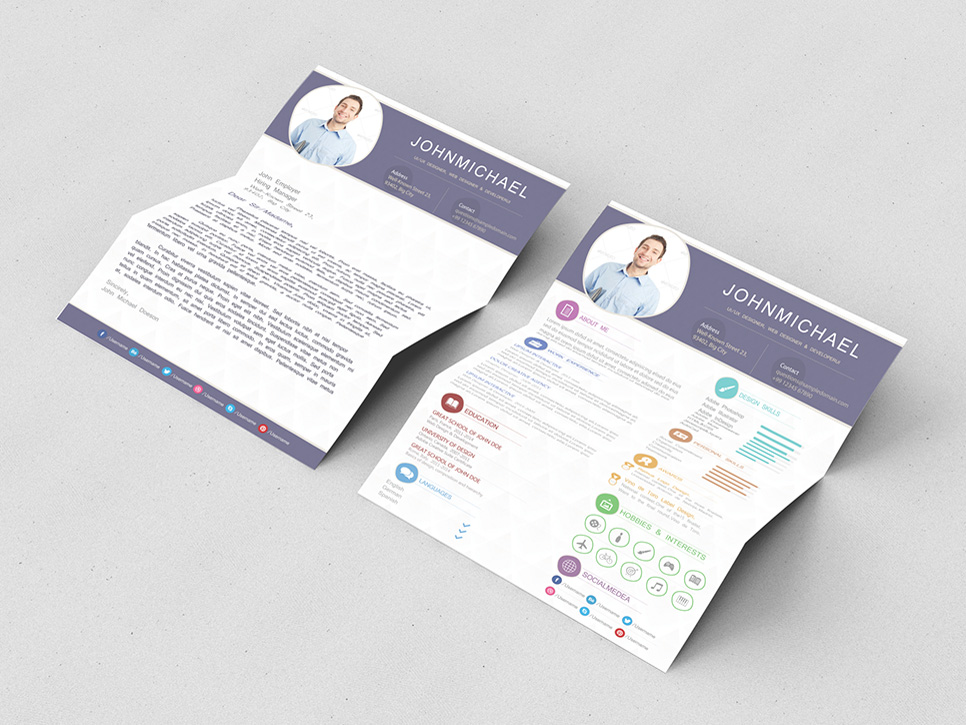 Free Resume Template with Matching Cover Letter page