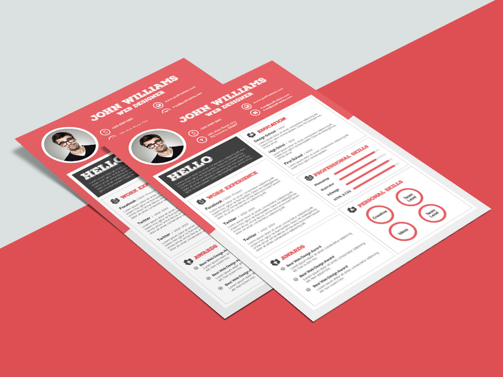 Free Clean Resume Template With Sharp Design For Job Seeker Come Modern And Professional It Made To Help You Get Your Great