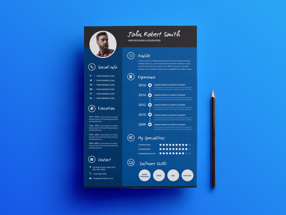 Free Creative Resume Template with Professional Design