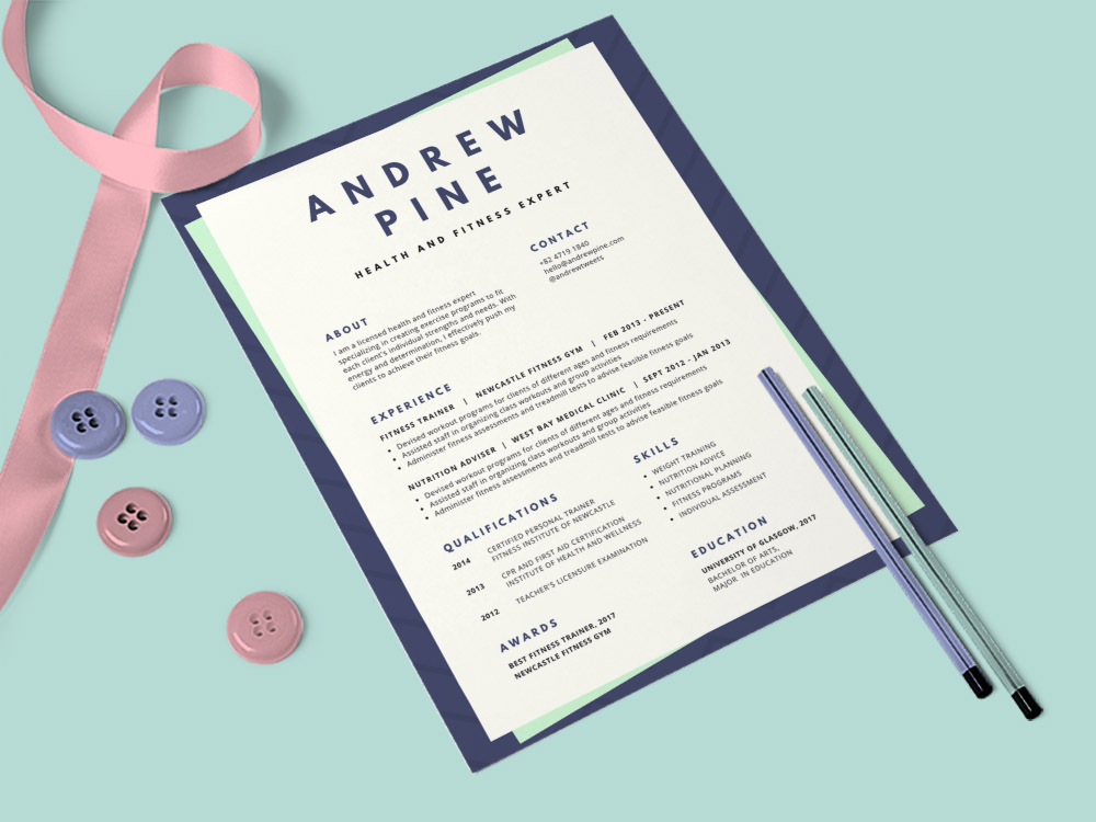 free medical resume template with modern design