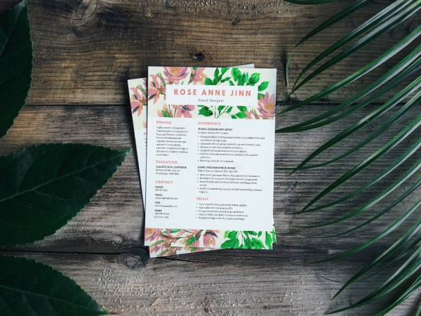 Free Resume Template for Florist