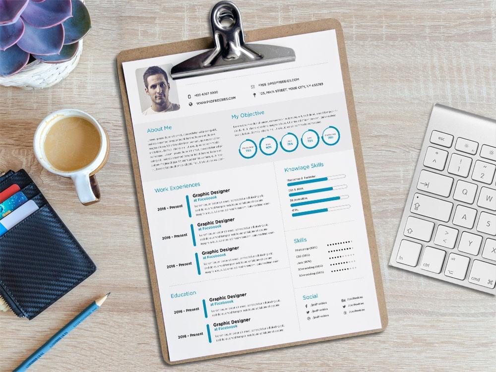 Free Minimalist Elegant CV Template for Job Seeker