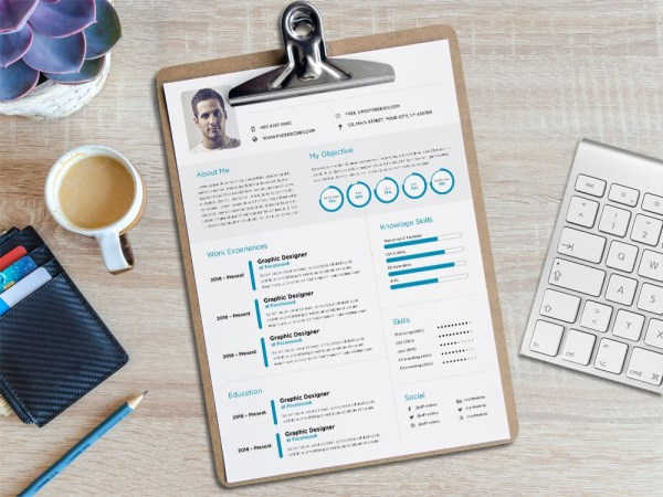 Free Minimalist Elegant CV Template for Job Seeker