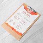 Orange Resume Template